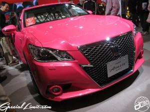Nagoya Motor Show 2013 TOYOTA Booth Pink CROWN