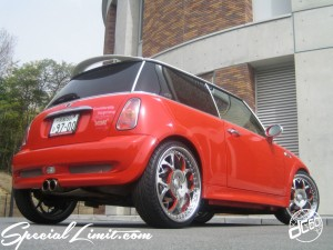 dc601 produce custom car 2tone rosso ferrari bmw mini cooper s aza forgied sakura pinstripe