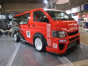 Tokyo Auto Salon 2014 in Makuhari messe drift hiace 東京オートサロン 幕張メッセ