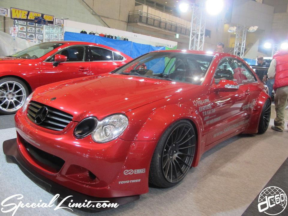 Tokyo Auto Salon 2014 in Makuhari messe widebody benz Saruto Racing CLK rocket bunny