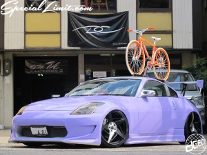 "dc601 FORGIATO JAPAN CERTIFIED DEALER Trophy DC-601,Inc. C.E.O Norman Designer Pablo FORGED Wheel Fairlady Z33 350Z MONO Leggera Spacco 20"" Purple Magic Matte Apple Silver All Paint Roof on P.K RIPPER Bicycle"