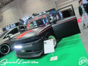 Osaka Auto Messe 2014 Car & Customize Motor Show Intex Custom TOYOTA bB Open Deck Slammed Wide Body Audio