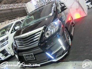 Osaka Auto Messe 2014 Car & Customize Motor Show Intex Custom Black Pearl Alphard