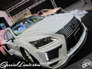 Osaka Auto Messe 2014 Car & Customize Motor Show Intex Custom Wide Body Slammed LEXUS LS