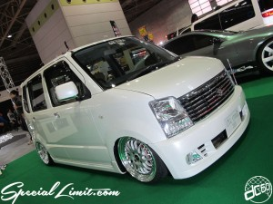 Osaka Auto Messe 2014 Car & Customize Motor Show Intex Custom EXE STYLE WAGON R Slammed