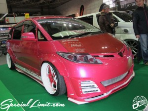 Osaka Auto Messe 2014 Car & Customize Motor Show Intex 170 MOTORING ESTIMA Wide Body