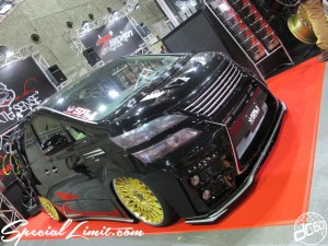Osaka Auto Messe 2014 Car & Customize Motor Show Intex Custom SIXTH SENSE SRJ Vellfire Slammed