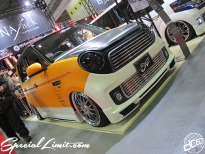 Osaka Auto Messe 2014 Car & Customize Motor Show Intex Custom NAJack N-ONE Slammed Crimson RS Maxi