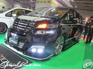 Osaka Auto Messe 2014 Car & Customize Motor Show Intex Custom TOYOTA Vellfire Slammed Body Kit