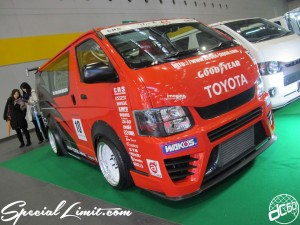 Osaka Auto Messe 2014 Car & Customize Motor Show Intex Custom HIACE CRS Drift