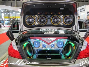 Osaka Auto Messe 2014 Car & Customize Motor Show Intex Custom NISSAN FUGA CHILDISH Rockford Fosgate E:STEEM Audio