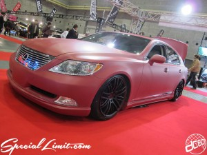 Osaka Auto Messe 2014 Car & Customize Motor Show Intex Custom Matte Wrapping LEXUS LS