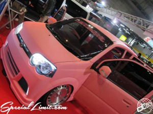 Osaka Auto Messe 2014 Car & Customize Motor Show Intex Custom Matte Pink DAIHATSU MOVE CRIMSON RS CUP Audio E:s Style
