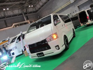 Osaka Auto Messe 2014 Car & Customize Motor Show Intex Custom GIBSON HIACE