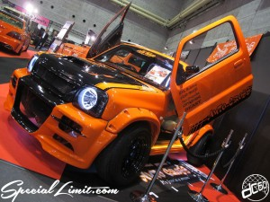 Osaka Auto Messe 2014 Car & Customize Motor Show Intex Custom Auto Cross JIMNY JB23 Wide Body Kit Gullwing