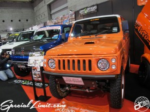 Osaka Auto Messe 2014 Car & Customize Motor Show Intex Custom Auto Cross JIMNY JA12 JB23 High Lift