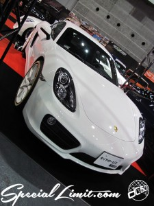 Osaka Auto Messe 2014 Car & Customize Motor Show Intex Custom Tire Service Fukuchiyama PORSCHE Cayman