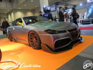 Osaka Auto Messe 2014 Car & Customize Motor Show Intex Custom Matte Color Silvia S15 Body Kit Slammed