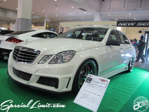 Osaka Auto Messe 2014 Car & Customize Motor Show Intex Custom Mercedes Benz E300 AVG Angila