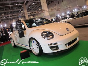 Osaka Auto Messe 2014 Car & Customize Motor Show Intex Custom NEWING ALPIL The Beetle Slammed EL Piping