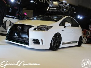 Osaka Auto Messe 2014 Car & Customize Motor Show Intex Custom AIMGAIN Body Kit Slammed TOYOTA PRIUS