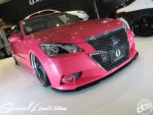 Osaka Auto Messe 2014 Car & Customize Motor Show Intex Custom AIMGAIN Body Kit Slammed PINK CROWN Athlete