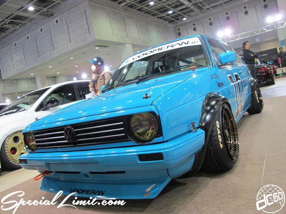 Osaka Auto Messe 2014 Car & Customize Motor Show Intex Custom BOOMMERAN VW GOLF Mark.2 TOYO Tire ismArt Wide Body Euro Magic