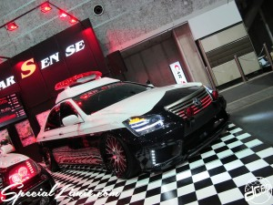 Osaka Auto Messe 2014 Car & Customize Motor Show Intex Custom CAR SENSE CROWN Japanese Police car Style