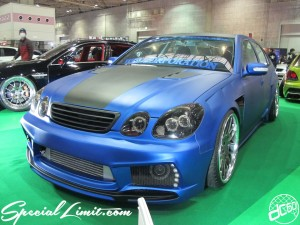 Osaka Auto Messe 2014 Car & Customize Motor Show Intex Custom TOYOTA ARISTO Matte Blue Slammed VIP