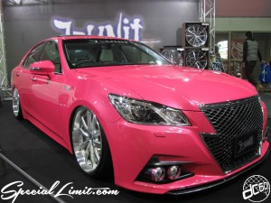 Osaka Auto Messe 2014 Car & Customize Motor Show Intex Custom J-unit PINK CROWN Body Kit Slammed