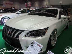 Osaka Auto Messe 2014 Car & Customize Motor Show Intex Custom T DEMAND LEXUS LS Slammed Deep Lip