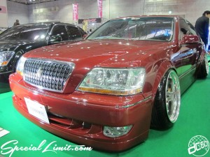 Osaka Auto Messe 2014 Car & Customize Motor Show Intex Custom Wide Body CROWN Majesta Slammed