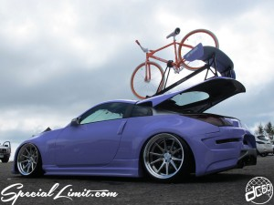 dc601 Z33 Custom Project NISSAN Fairlady 350Z WORK GNOSIS CV201 Roof on Bicycle P.K RIPPER Slammed Purple Magic Matte Apple Silver AMS Body Kit RS☆R Sport☆i Adjustable Coilover Crystal claw iPad mini Holder interior custom cat back exhaust Rockford Fosgate audio installation Exterior X-5 MIYAGI