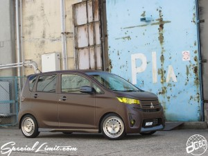 dc601 MITSUBISHI ek Custom Project Italian Leather Denim Film Full Wrapping CRIMSON RS CUP Slammed RS☆R Best☆i Coilover Adjustable DIATONE Sound Navi Premi FLUX COMP261 Gracias LED HID TURBO Stylewagpn