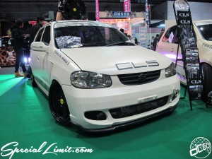 Osaka Auto Messe 2014 Car & Customize Motor Show Intex Custom CLS Racing Modify Slammed Matte Beige