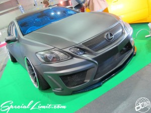 Osaka Auto Messe 2014 Car & Customize Motor Show Intex Custom LEXUS GS Body Kit Slammed Matte Color