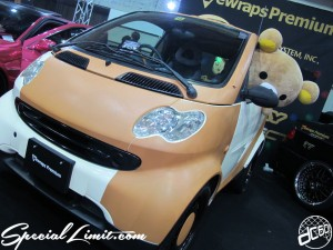 Osaka Auto Messe 2014 Car & Customize Motor Show Intex Custom Vewraps Premium Smart Fortwo Wrapping Demonstration