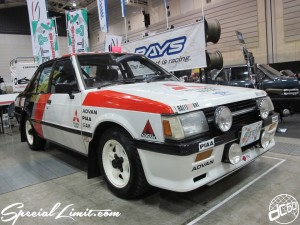 Nostalgic 2days Pacifico YOKOHAMA Oldschool Classic Car Neoclassic Trade Show 2014 VINTAGE MITSUBISHI LANCER TURBO ADVAN PIAA GAB RALLIART