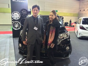 Osaka Auto Messe 2014 Car & Customize Motor Show Intex Campaign Girl Custom Show ELFORD ERINA Tatto