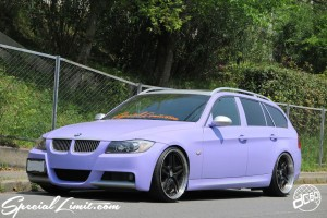 BMW E91 325i Touring Purple Magic TWS 20inch M3  exlETE FORGED M-Sports RS☆R Coil-over Suspension Adjustable Apple Silver Slammed