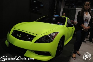 SEMA Show 2014 Las Vegas Convention Center dc601 Special Limit INFINITI G37 Coupe Matte Lime Green Wrapping