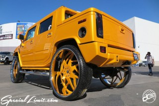 SEMA Show 2014 Las Vegas Convention Center dc601 Special Limit GM HUMMER H2 SUT 305/25R34 FORGIATO