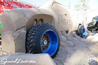 SEMA Show 2014 Las Vegas Convention Center dc601 Special Limit AMERICAN FORCE Wheels Sand Art