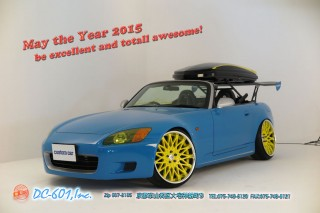 Happy New Year 2015 dc601 custom car Special Limit.com HONDA S2K Rebel Blue RS☆R adjustable coilover THULE CRIMSON RS WIRE ORIGIN Apple Silver Cover Car