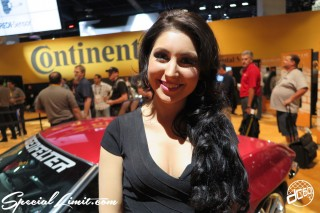 SEMA Show 2014 Las Vegas Convention Center dc601 Special Limit Continental Tire Booth Image Girl