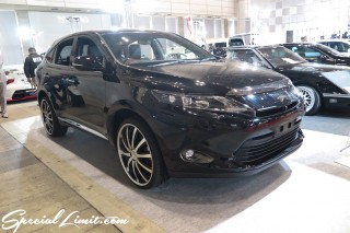 TOKYO Auto Salon 2015 Custom Car Demo JDM USDM Body Kit Coilover Suspension Wheels Campaign Girl Image New Parts Chiba Makuhari Messe Motor Show TOYOTA HARRIER