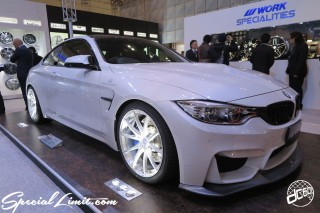 TOKYO Auto Salon 2015 Custom Car Demo JDM USDM Body Kit Coilover Suspension Wheels Campaign Girl Image New Parts Chiba Makuhari Messe Motor Show BMW M4 WORK BOOTH