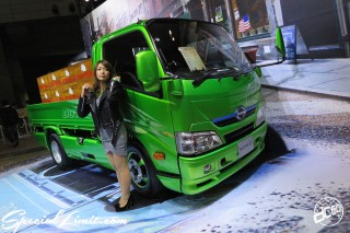 TOKYO Auto Salon 2015 Custom Car Demo JDM USDM Body Kit Coilover Suspension Wheels Campaign Girl Image New Parts Chiba Makuhari Messe Motor Show HINO DUTRO