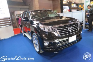 TOKYO Auto Salon 2015 Custom Car Demo JDM USDM Body Kit Coilover Suspension Wheels Campaign Girl Image New Parts Chiba Makuhari Messe Motor Show GMG DOUBLE EIGHT TOYOTA Land Cruiser Prado