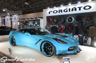 TOKYO Auto Salon 2015 Custom Car Demo JDM USDM Body Kit Coilover Suspension Wheels Campaign Girl Image New Parts Chiba Makuhari Messe Motor Show FORGIATO CHEVROLET CORVETTE C7 OfficeK Wide Body